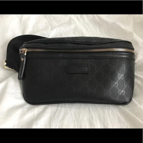 c47582c5581c Gucci Handbags - Black Gucci Guccissima Embossed Fanny Pack